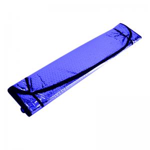 Metalize Ön Cam Oto Güneşliği Mavi 130x60cm