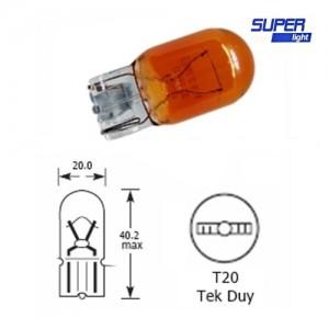 Super Light T20 Dipsiz Amber Park Ampulü Tek Duy