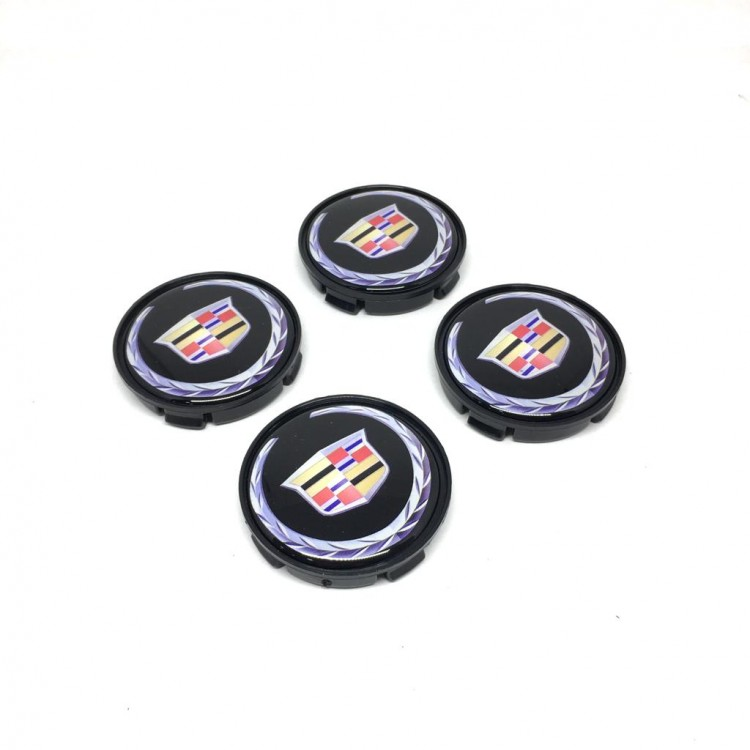 Cadillac Wheel Center Caps 4pcs 55mm