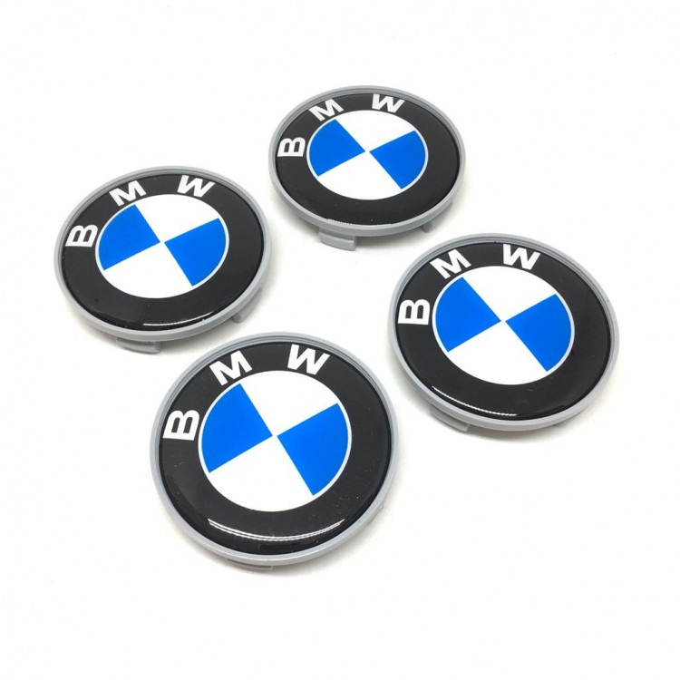 Bmw Grey Blue White Wheel Center Caps 4pcs 55mm