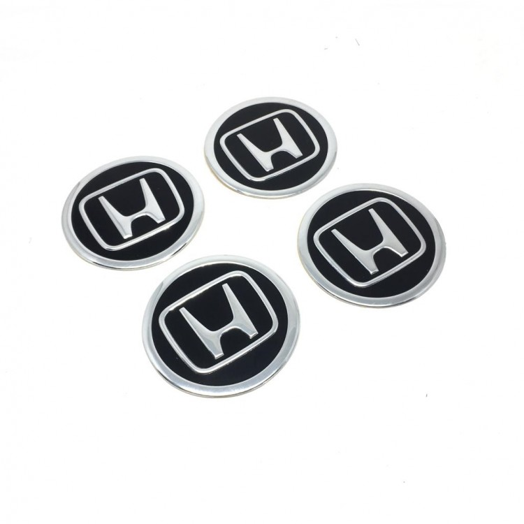 Honda Aluminum Sticker Wheel Center Caps 4pcs 55mm