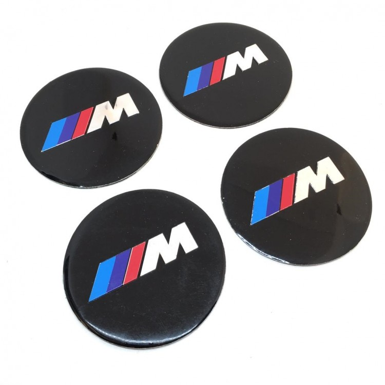 Bmw-M Aluminum Sticker Wheel Center Caps 4pcs 90mm
