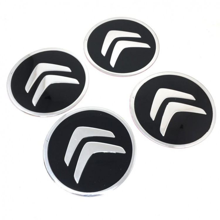 Citroen Aluminum Sticker Wheel Center Caps 4pcs 90mm