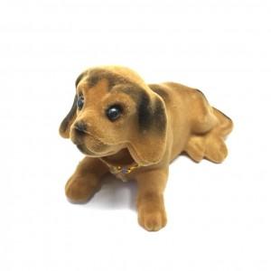 Kafa Sallayan Köpek Araç İçi Süs Kahverengi