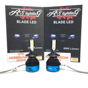 BLADE H4 Led Xenon Far Ampulü 6500K Beyaz/12V/36/6000 Lümen