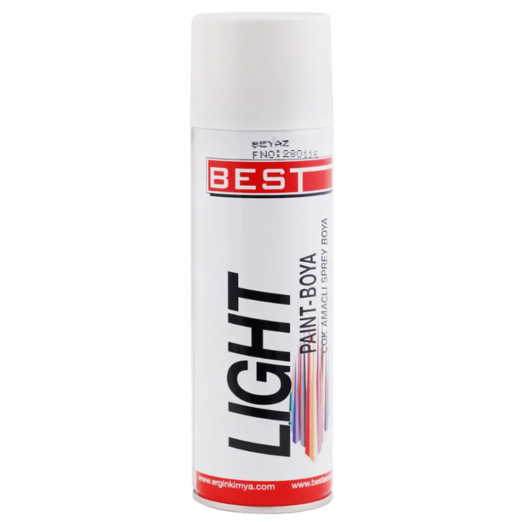 BEST Light Beyaz Sprey Boya 250 ml