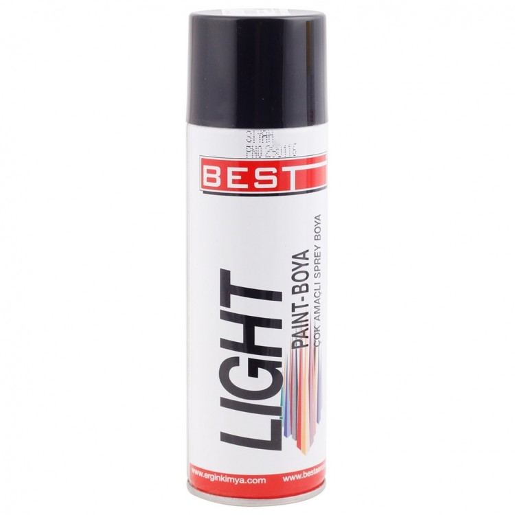 BEST Light Mat Siyah Sprey Boya 250 ml
