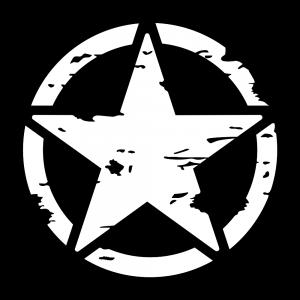 Army Star Askeri Yıldız Oto Sticker Beyaz 22x22cm
