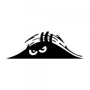 Bagajdan Bakan Öfkeli Adam Oto Stickeri Siyah 20x7cm