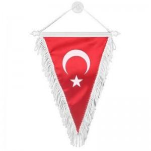 Üçgen Bez Türk Bayrağı Büyük 55x25cm